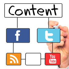 content on social networks