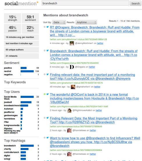 SocialMention 10 Free Social Media Monitoring Tools