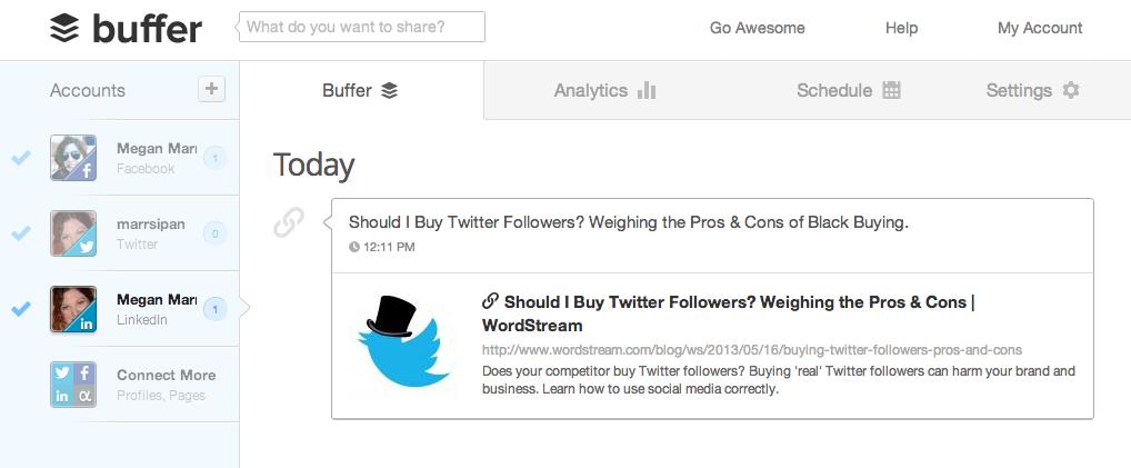 buffer 10 Free Social Media Monitoring Tools